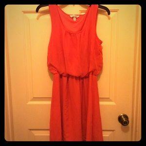 Speechless M orange lined elastic waist dress